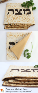 Matzah Cover Sewing Pattern 3 Views Vertical