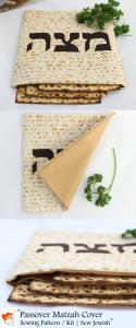 Matzah Cover Sewing Pattern 3 Views Vertical
