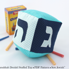 Hanukkah Sewing Pattern: Soft Toy Dreidel