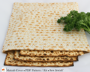 Passover matzah cover sewing pattern matzah fabric