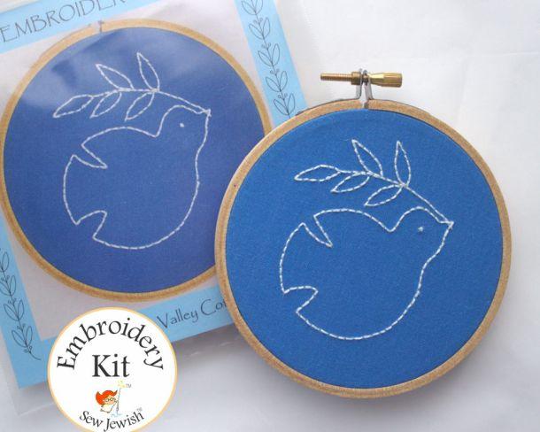 Dove Jewish Embroidery Kit