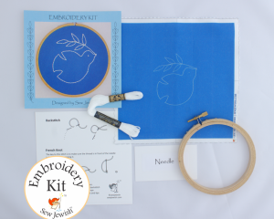 Dove embroidery kit for beginners