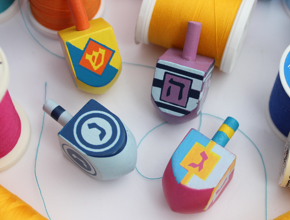 How to Play the Dreidel Game – The Rules in Fabric and Thread