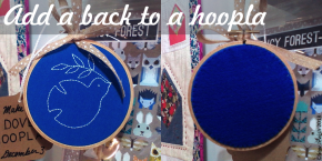 How to Add a Back to an Embroidery Project and Turn It into a HooplaOrnament