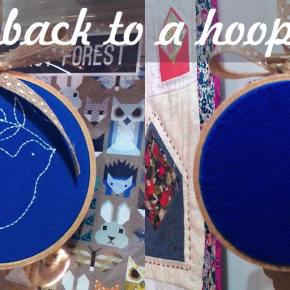 Make a Hoopla! Add a Back to an Embroidery Project and Hang it Up