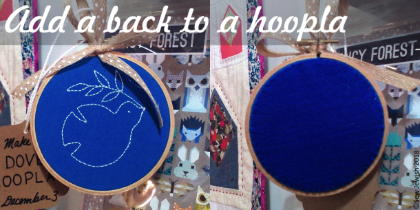 embroidered hoop with back