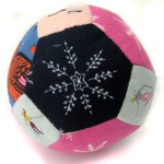 fabric ball with snowflake