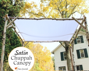 white wedding chuppah canopy