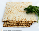 matzah cover with matzah fabric