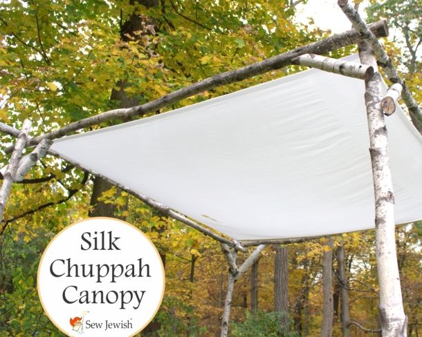 silk wedding chuppah
