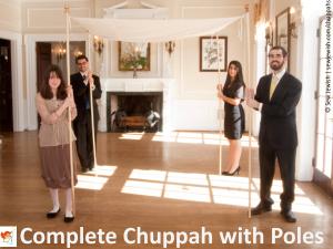Rent Handheld Chuppah with Poles