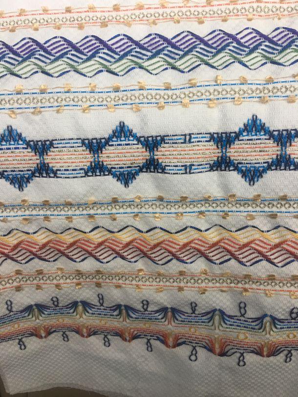 Swedish weaving aka huck embroidery by Deborah Katchko Gray
