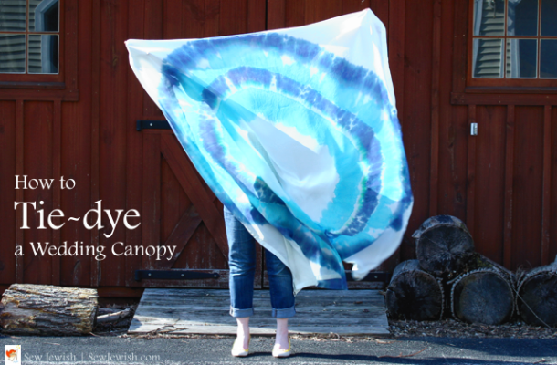 How to tie dye wedding chuppah canopy ring burst