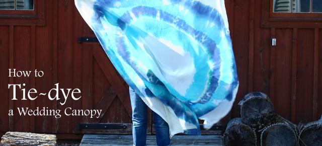 How to tie dye wedding chuppah canopy ring burst