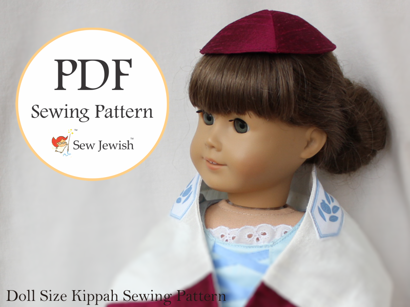 doll kippah sewing pattern