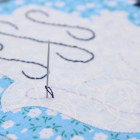 Easy Way to Start Embroidering with Two Strands of Thread