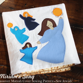Miriam's Song Matzah Cover Pattern for Your Passover Seder